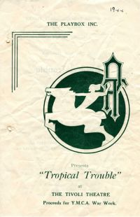 Program cover to Tropical Trouble 1944