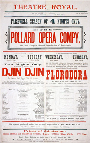 Poster for the Pollard Opera Company